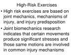 high risk exercises