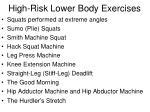 high risk lower body exercises