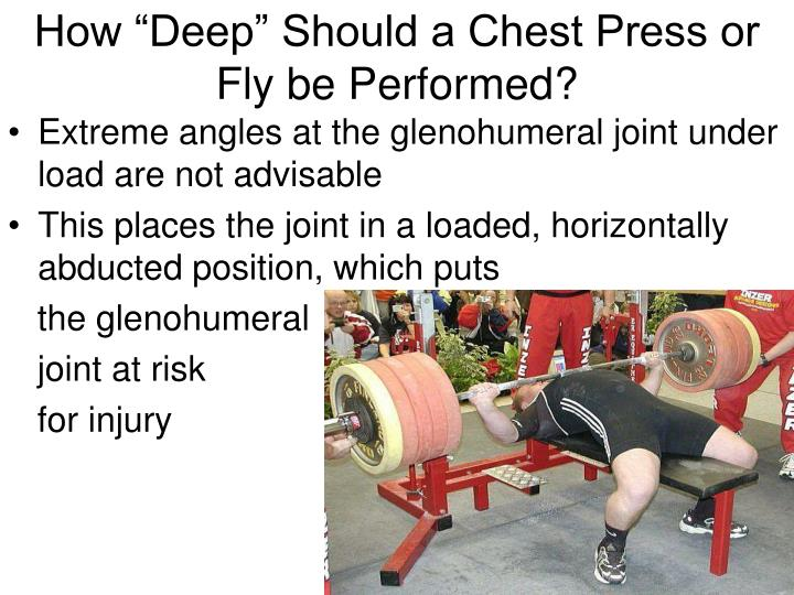 "How ""Deep"" Should a Chest Press or Fly be Performed?"