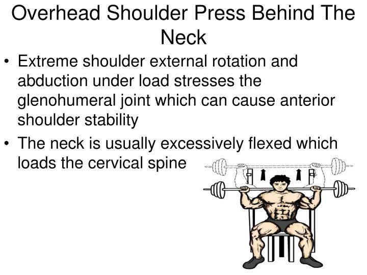 Overhead Shoulder Press Behind The Neck