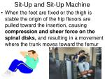 sit up and sit up machine