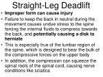 straight leg deadlift