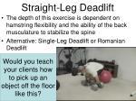 straight leg deadlift1