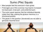 sumo plie squats