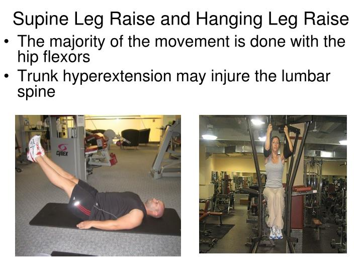 Supine Leg Raise and Hanging Leg Raise