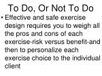 to do or not to do1