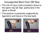 unsupported bent over db row