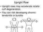 upright row1