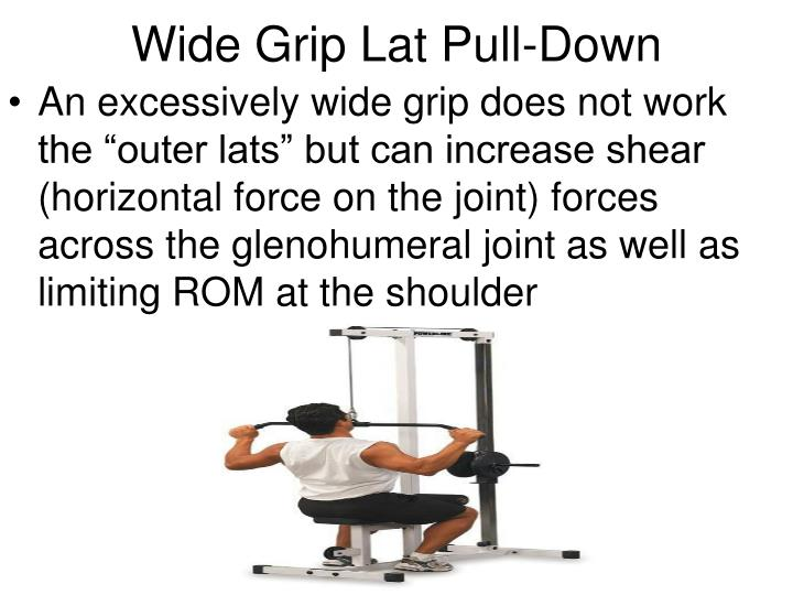 Wide Grip Lat Pull-Down