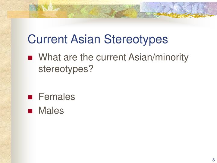 Current Asian Stereotypes