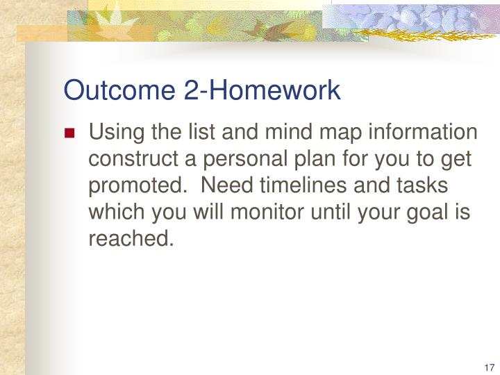 Outcome 2-Homework