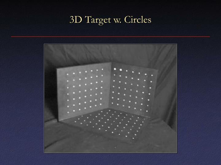 3D Target w. Circles