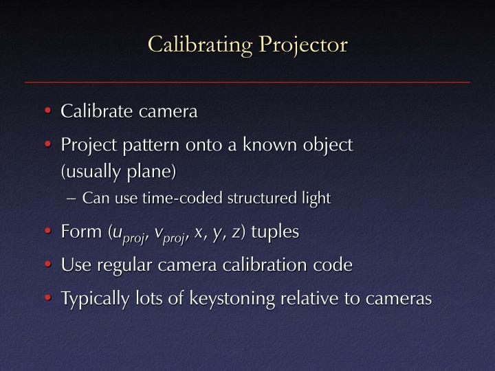 Calibrating Projector