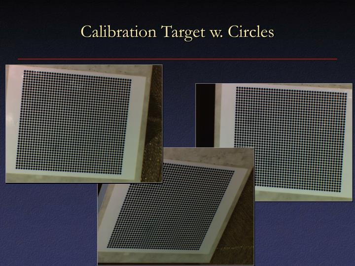 Calibration Target w. Circles