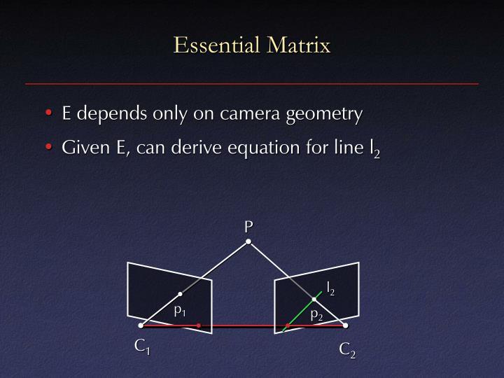 Essential Matrix