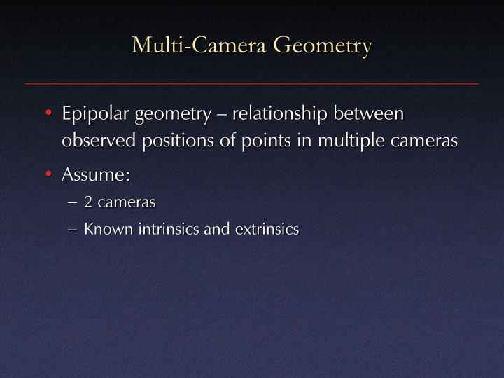 Multi-Camera Geometry