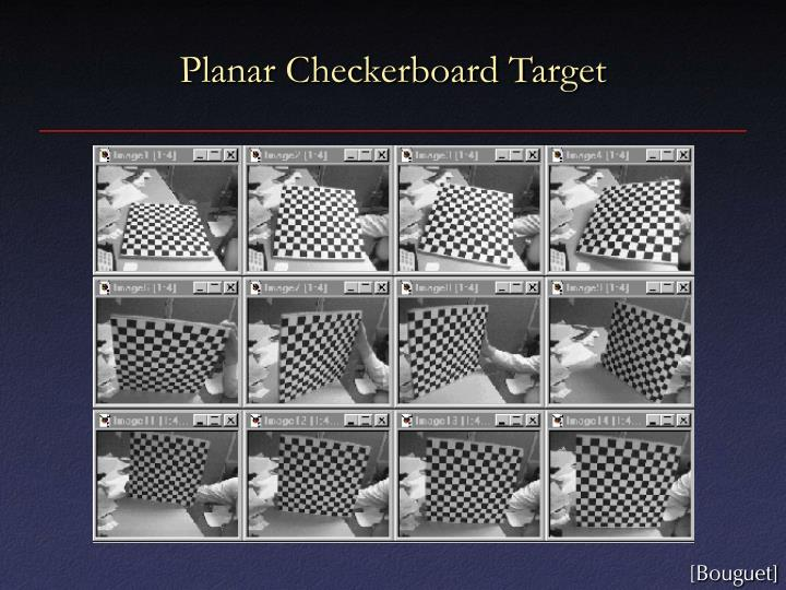 Planar Checkerboard Target