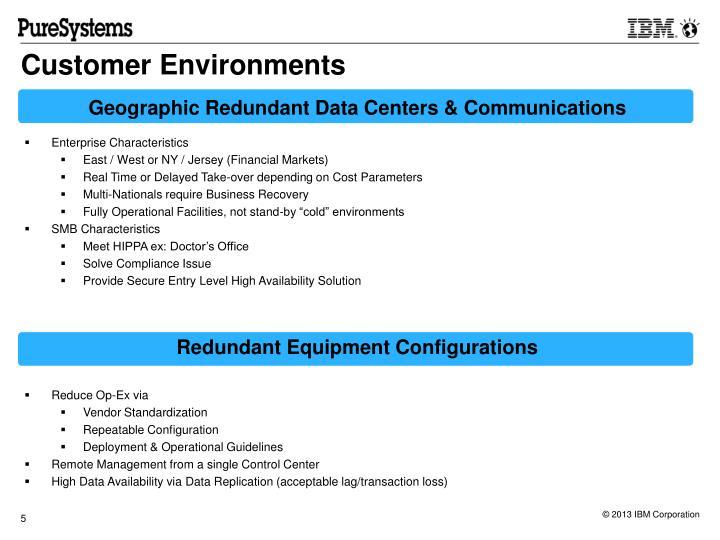 Customer Environments