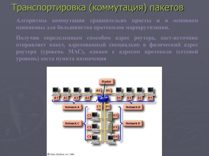 Транспортировка (коммутация) пакетов
