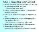 what is needed for data ecogrid