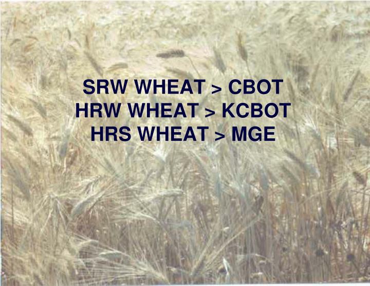 SRW WHEAT > CBOT