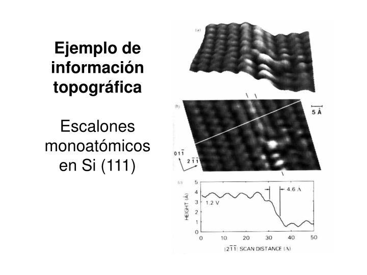 Ejemplo de información topográfica