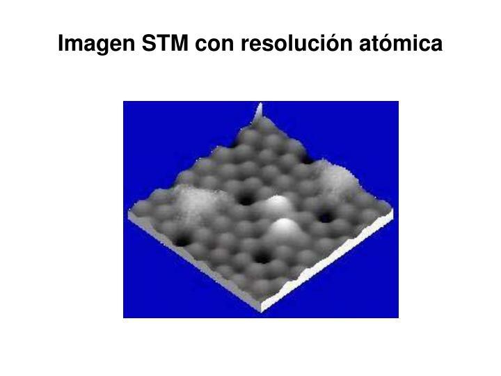 Imagen STM con resolución atómica