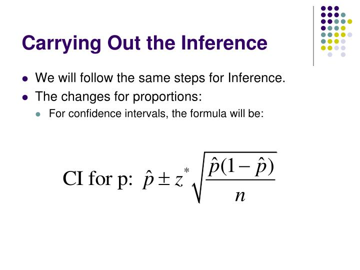 Carrying Out the Inference