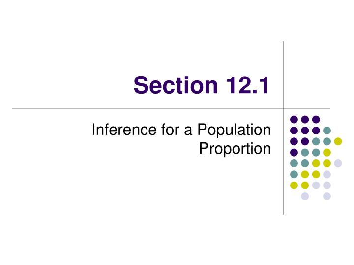 Section 12.1