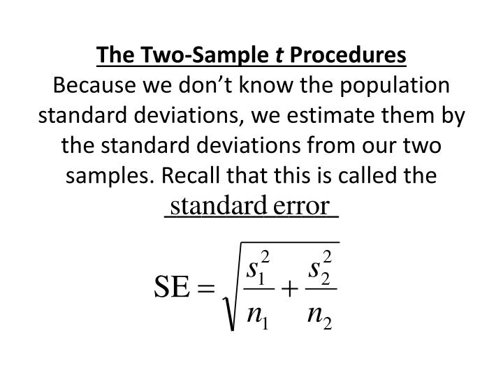 The Two-Sample