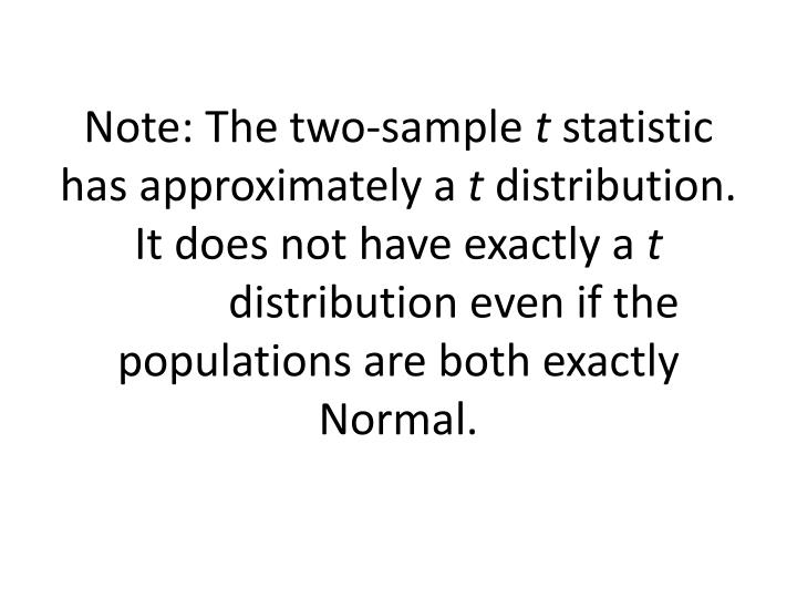 Note: The two-sample