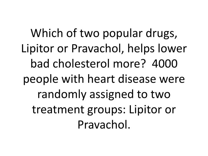 Which of two popular drugs, Lipitor or