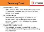 restoring trust1