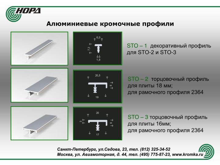Алюминиевые кромочные профили