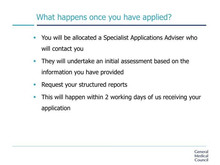 What happens once you have applied?