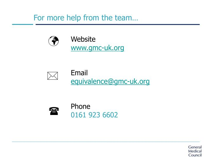 For more help from the team…