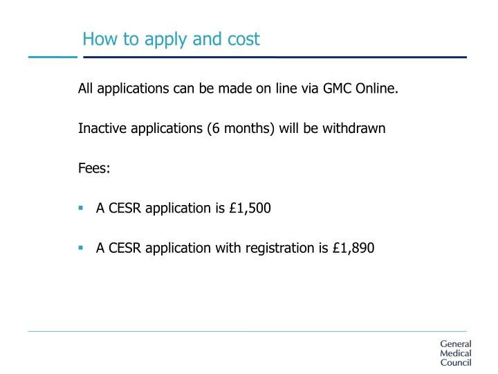 How to apply and cost