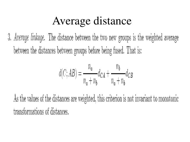 Average distance