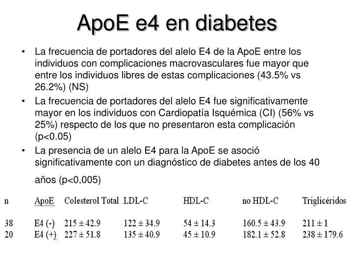 ApoE e4 en diabetes