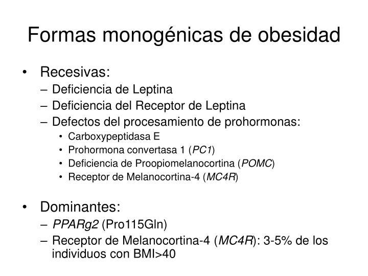 Formas monognicas de obesidad