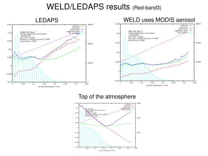 WELD/LEDAPS results