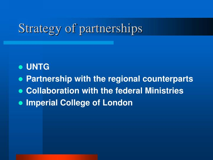 Strategy of partnerships