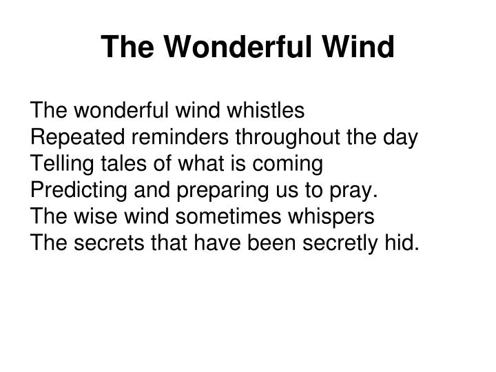 The Wonderful Wind