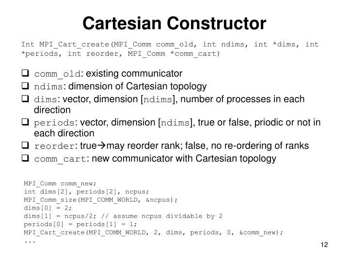 Cartesian Constructor
