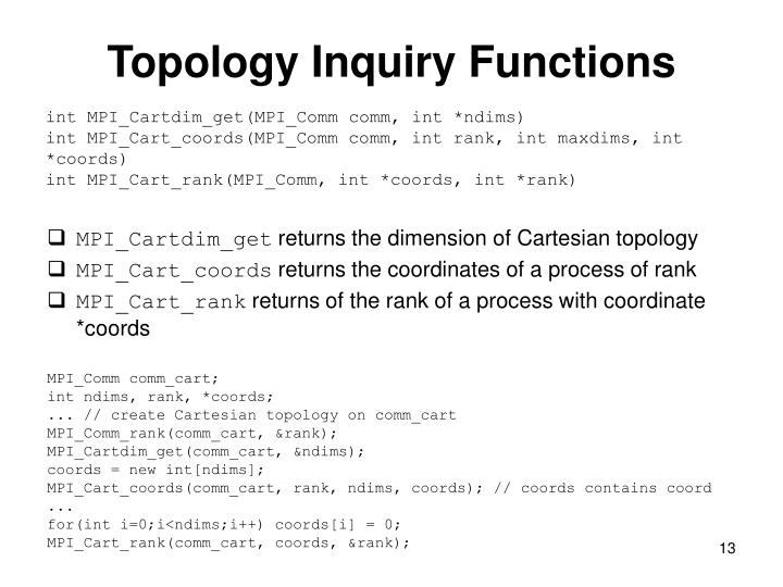 Topology Inquiry Functions
