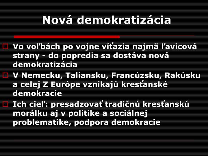 Nová demokratizácia