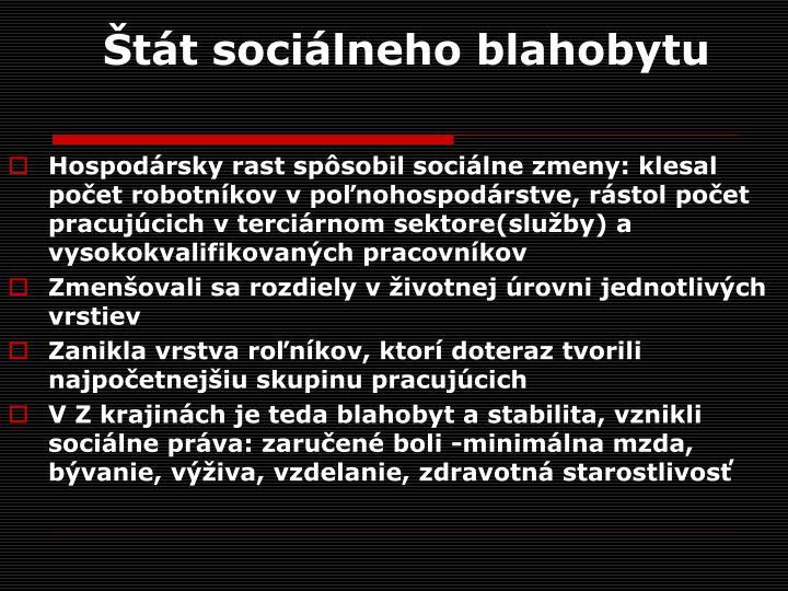 Štát sociálneho blahobytu