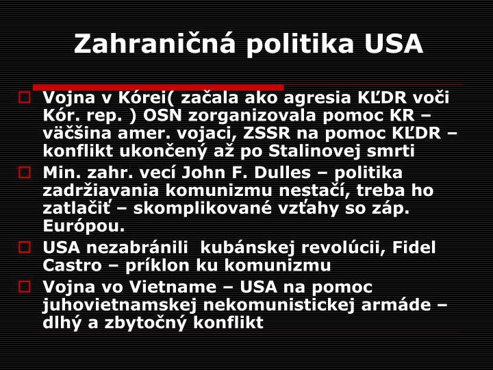 Zahraničná politika USA
