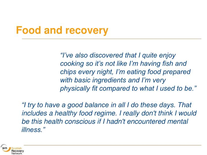 Food and recovery
