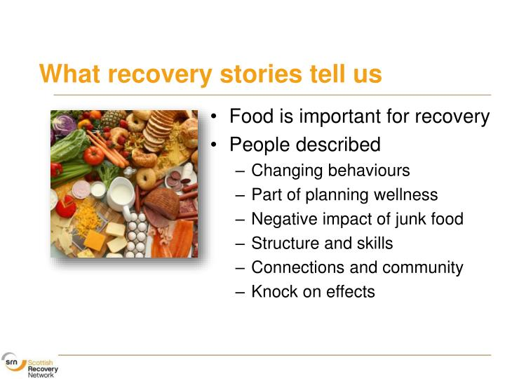 What recovery stories tell us